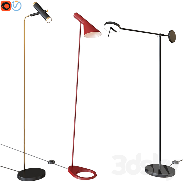 A set of floor lamps. Favorite. Louis Poulsen GROK