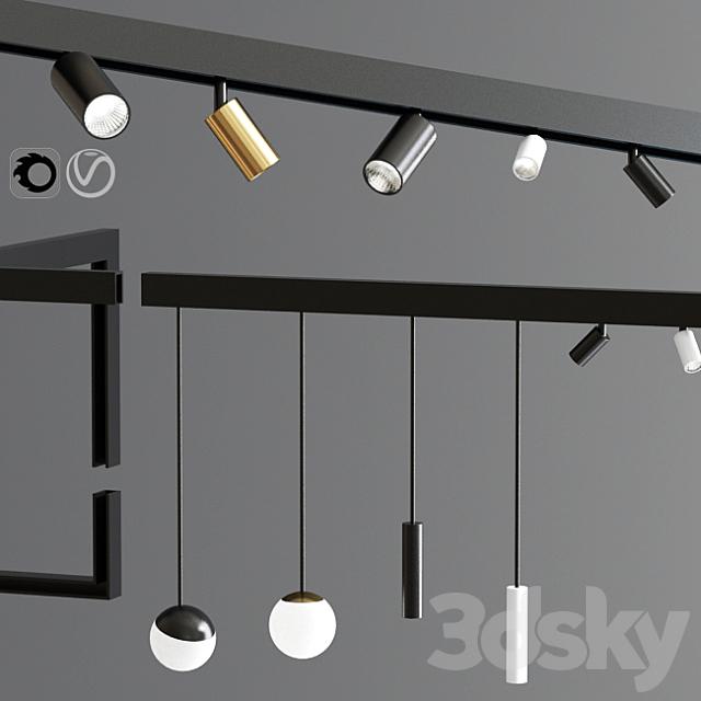 Suspensions Modules Ceiling Track Light 02