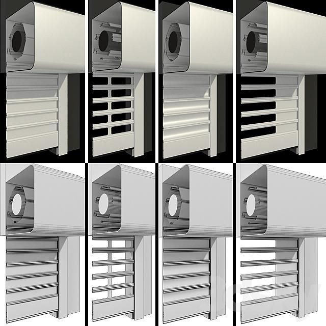 External motor roll shutter systems