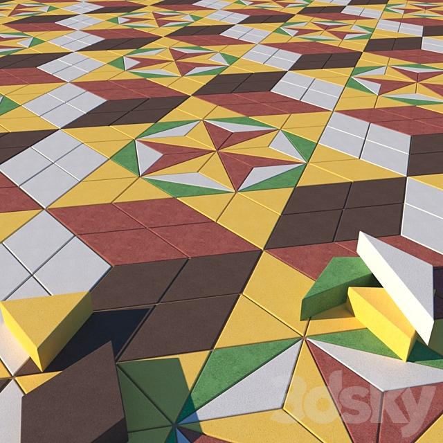 Pavers rhombus
