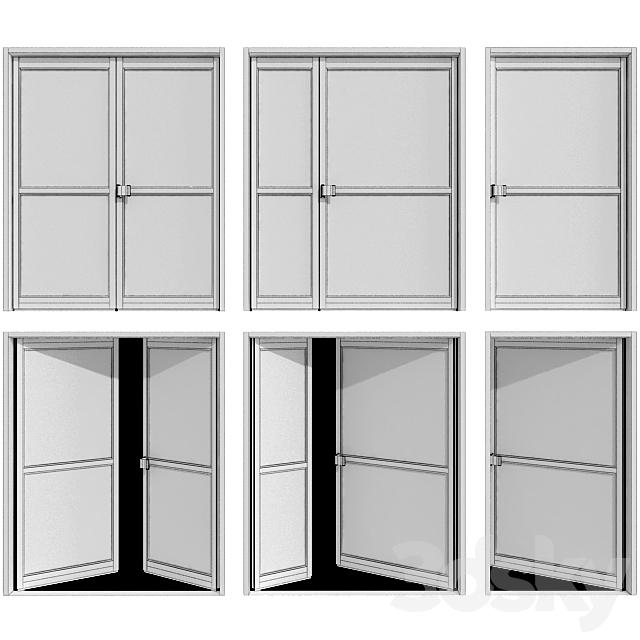 Metal fire doors