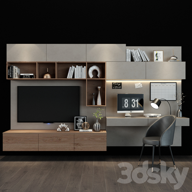 TV shelf 091