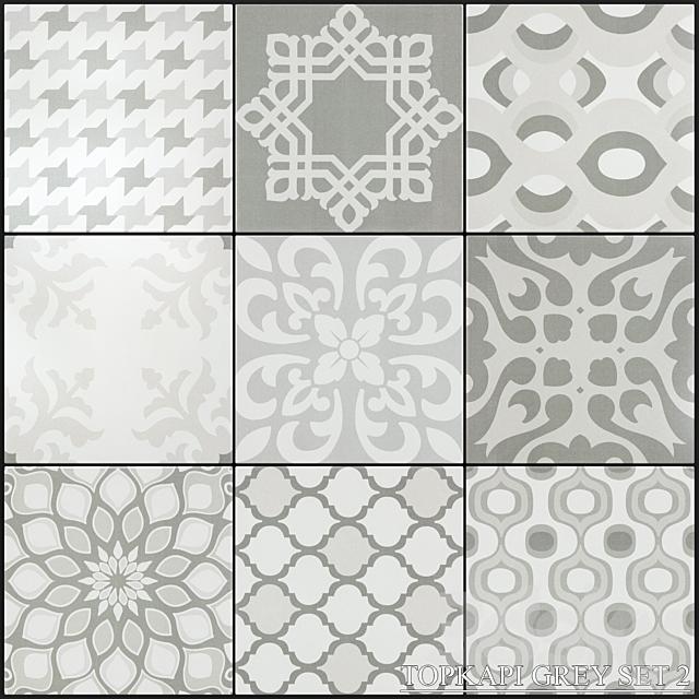 Yurtbay Seramik Topkapi Gray Set 2