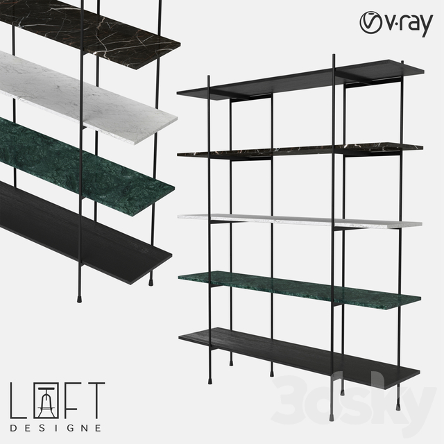 Bookcase LoftDesigne 7120 model
