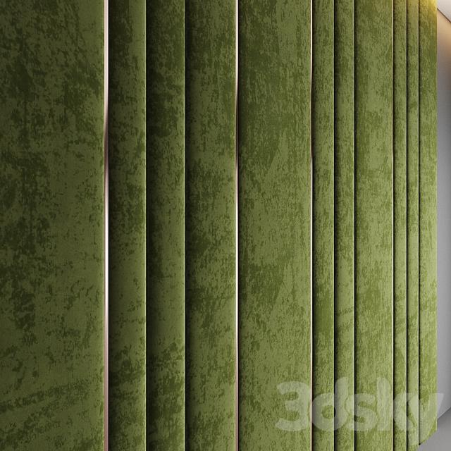 Olive Velvet Panel
