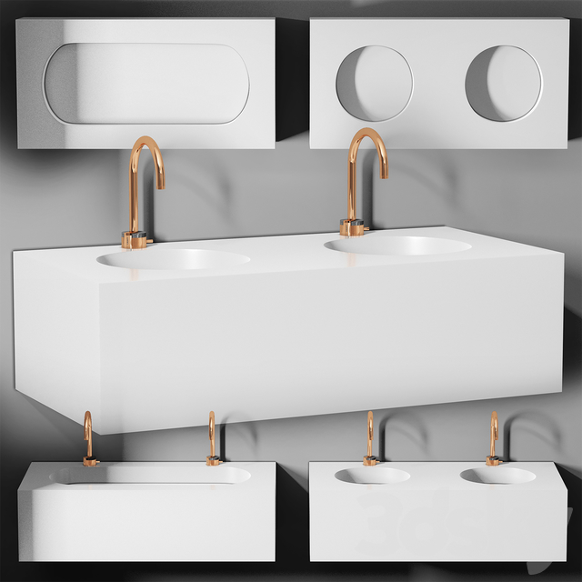 sink Planit Block basin & Graff Mod plus faucet 1