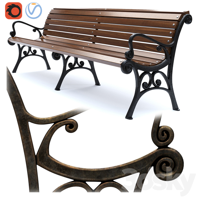 Park Bench 03