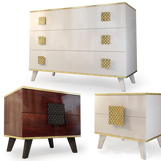 Chest and nightstand Diora, Furniture Yartsevo. Dresser, nightstand.