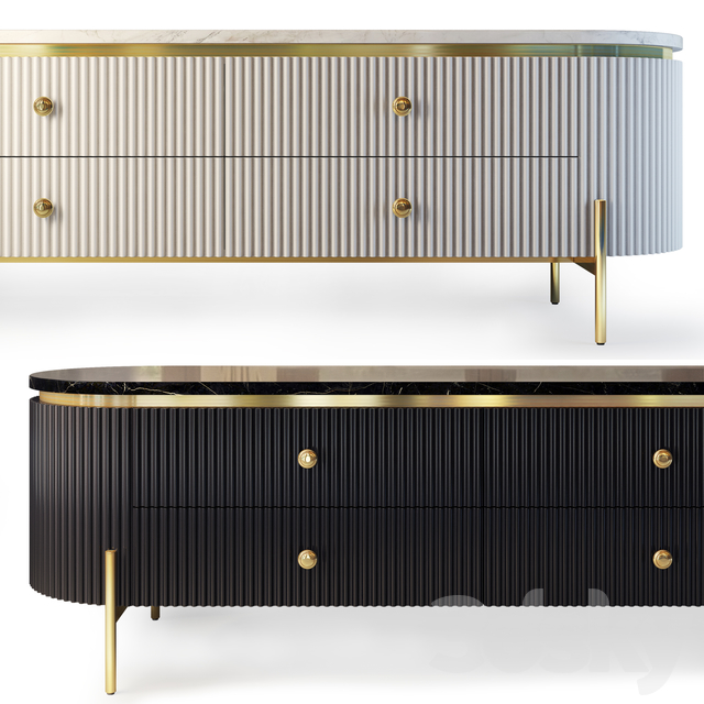 Chest and nightstand Art Deco. Sideboard, nightstand Art Deco by Chainaexpres