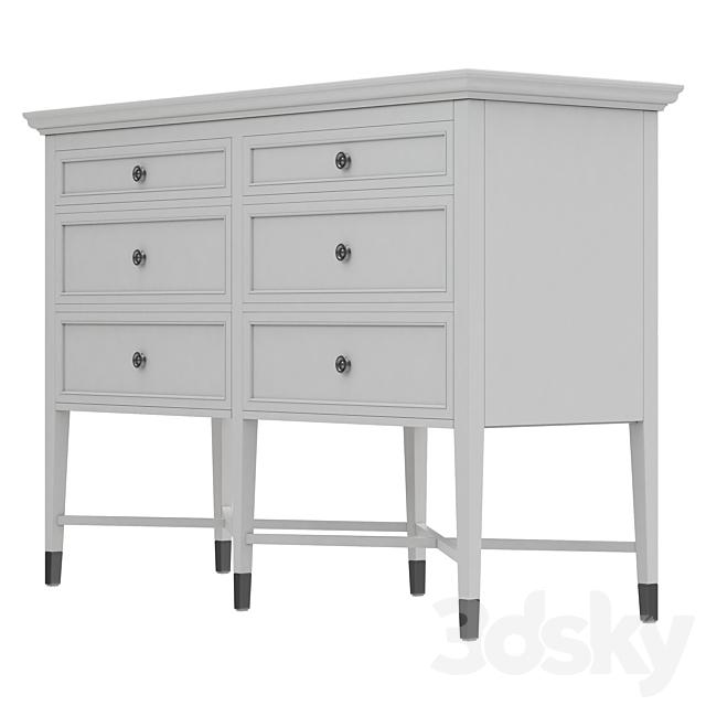 Dantone Home Dresser with 6 drawers Stafford