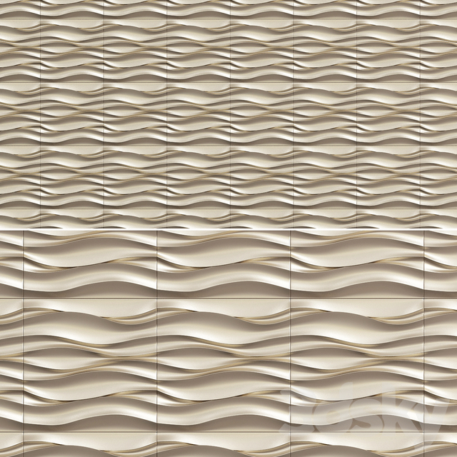 "3D gypsum panel ""ATLANTIC WAVE"""