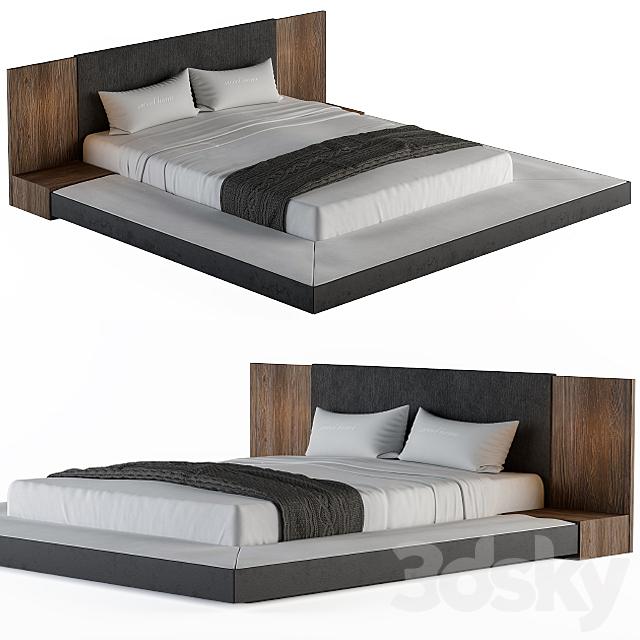 Veneer Defalco Upholstered Platform Bed