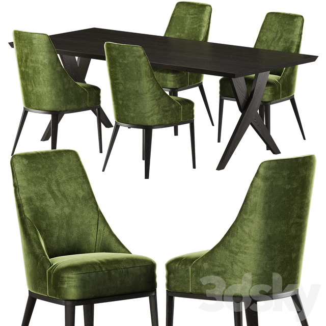 Softhouse Crossing table, Softhouse Flavia chair