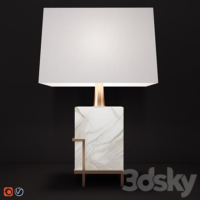 Art-Deco White marble Lamp