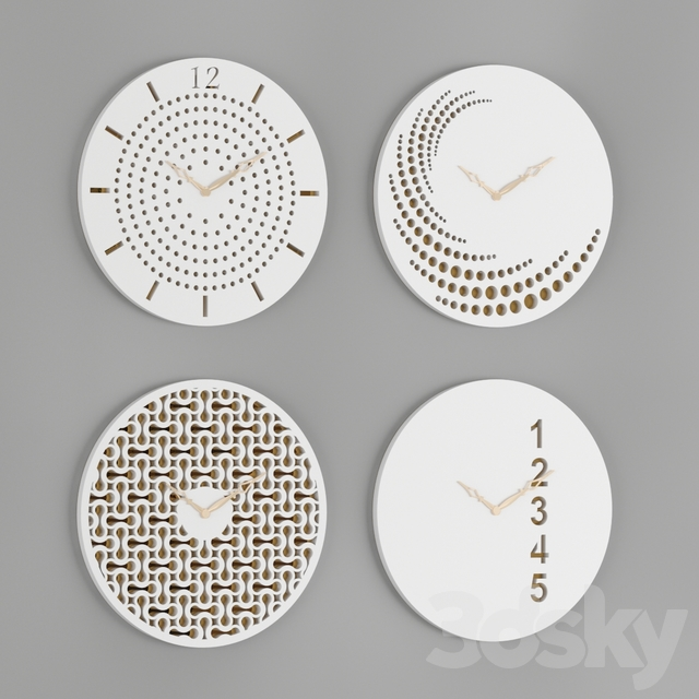 Wall Clocks Set 03
