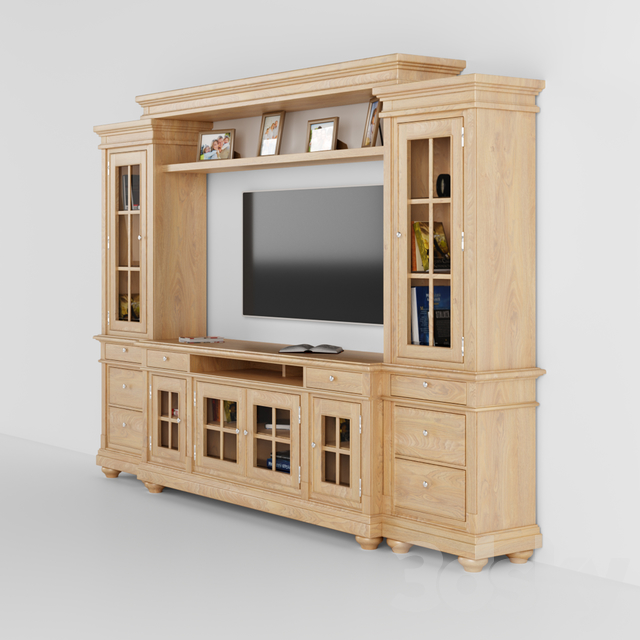 Harbor View Linen Entertainment Wall with 74 TV Console