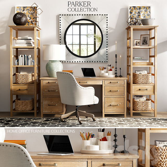 Pottery Barn Parker Home Office, Pottery Barn Office Furniture