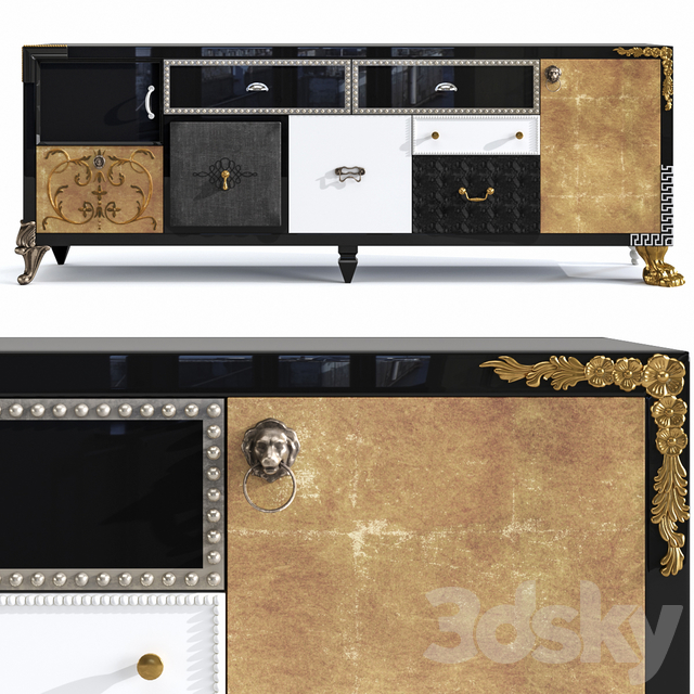 Wide chest of drawers Patchwork Saint Babila