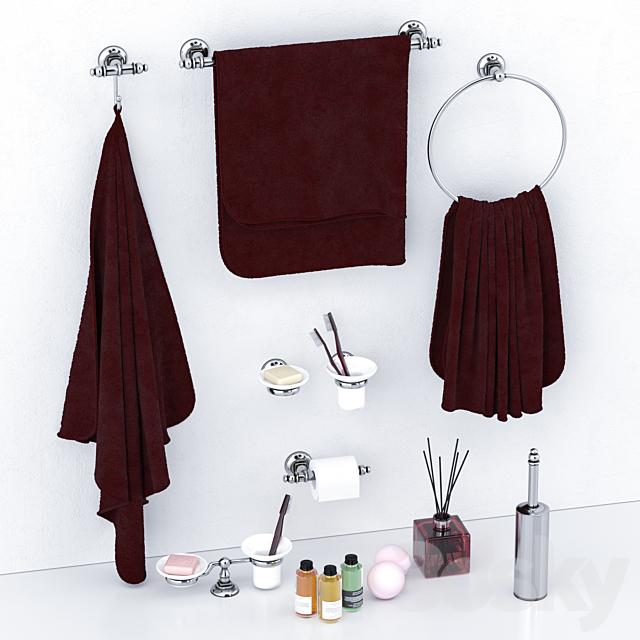 Set of bathroom accessories Simas