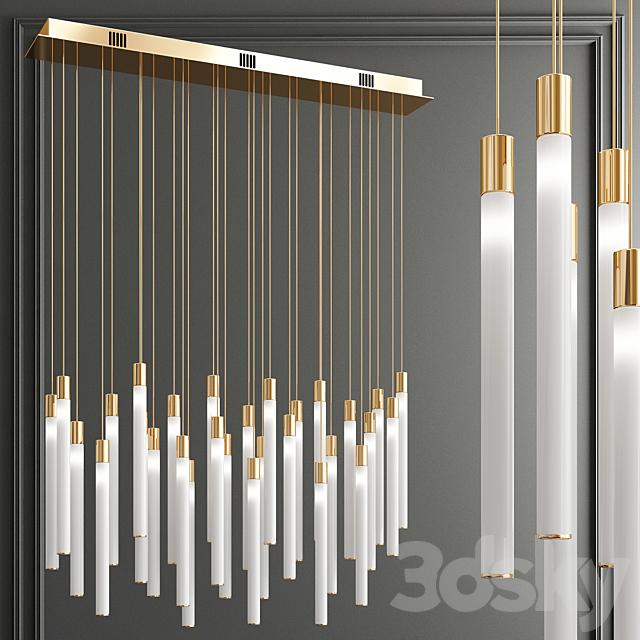 Tooby Rectangular LED Multi-Light Pendant