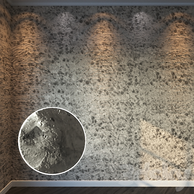 Decorative Stucco 336 - 8K Material