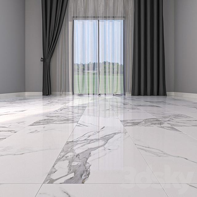 Marble Floor Eternal White Set 4