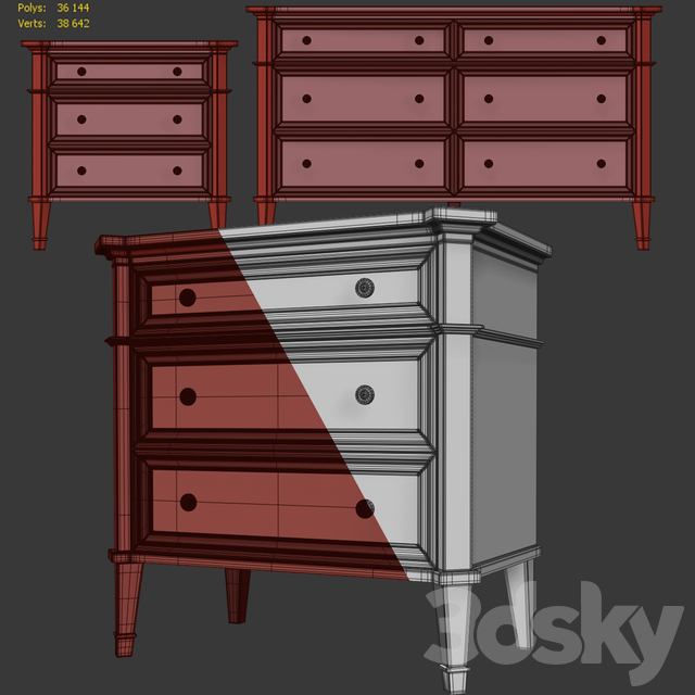 Chest and nightstand Mahongay. Dresser, nightstand by Mhliving