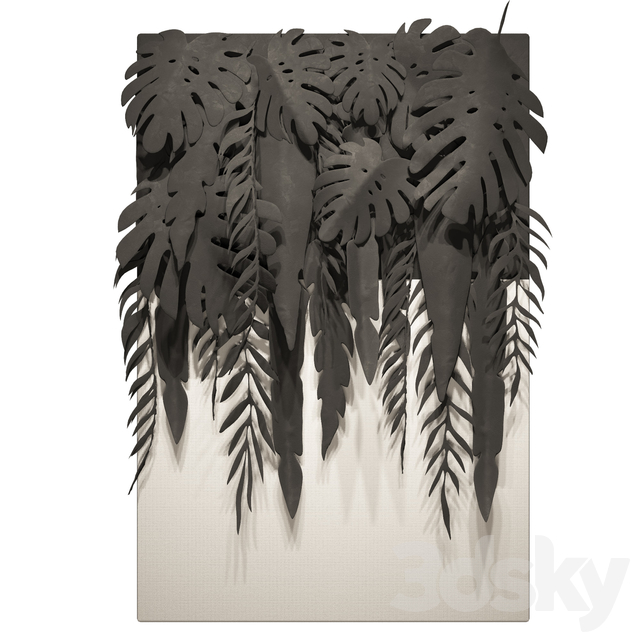 Tropical Leaves Panel