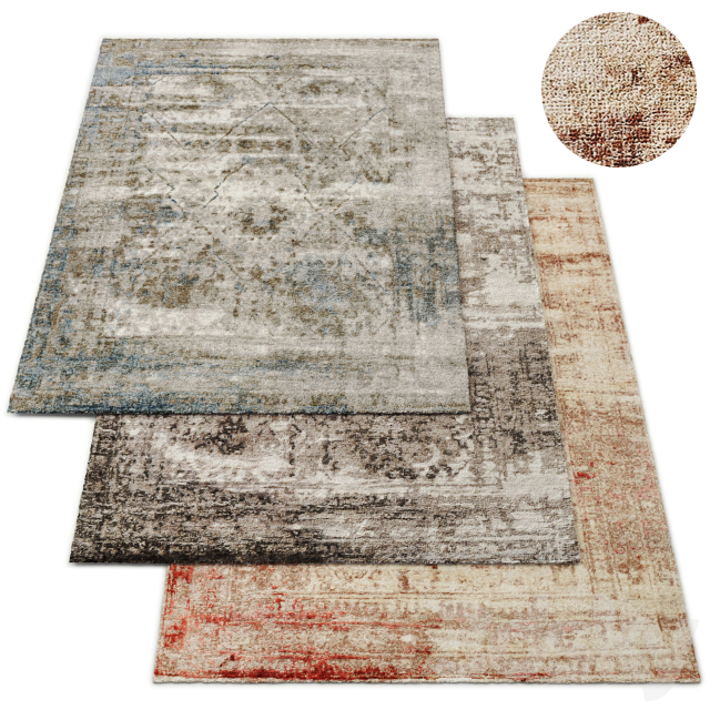 Tarim Hand-Knotted Rug RH Collection