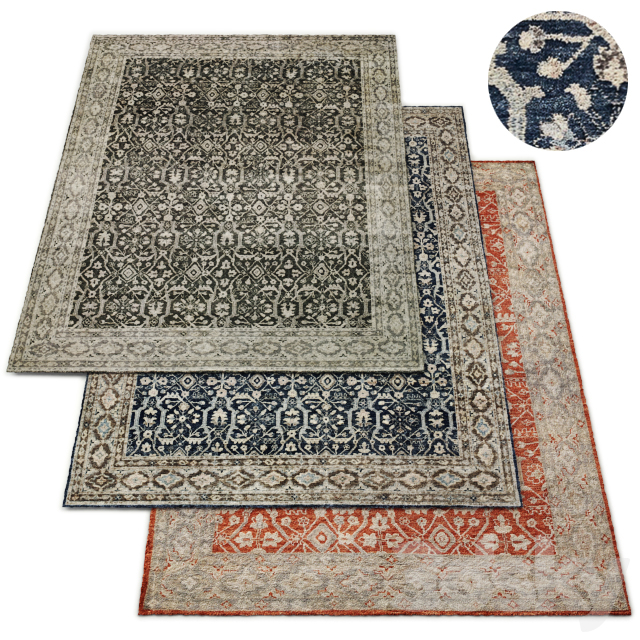 Ariette Hand-Knotted Wool Rug RH Collection