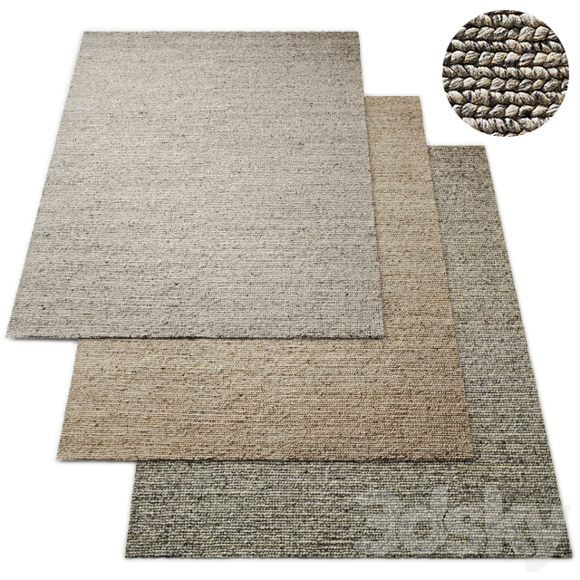 Moray Hand-Braided Wool Rug RH Collection