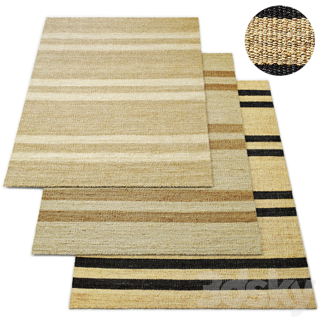 Laina Handwoven Jute Flatweave Rug RH Collection