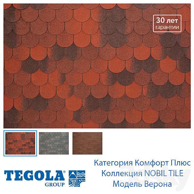OM Seamless texture of flexible tiles TEGOLA. Comfort Plus Category. Collection NOBIL TILE. Model Verona.