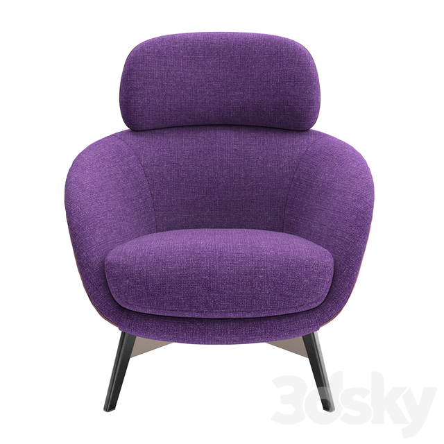Minotti Russell Bergere Fixed Bace Armchair