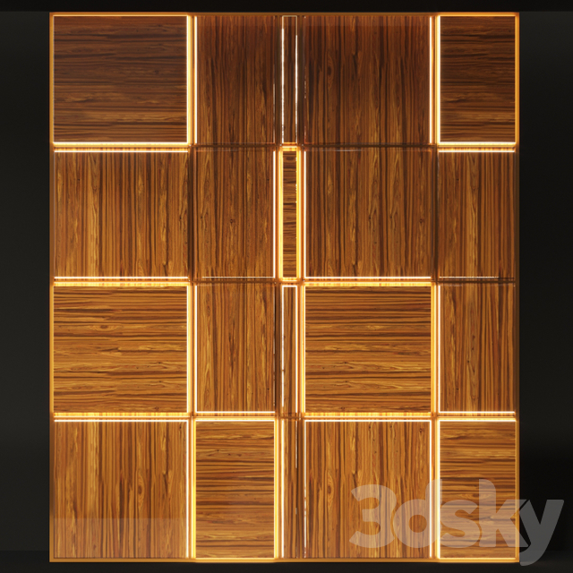 Macaguba decorative wall panel with backlight