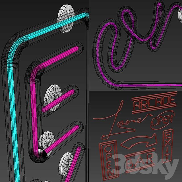 Light modules. Set 20. Neon