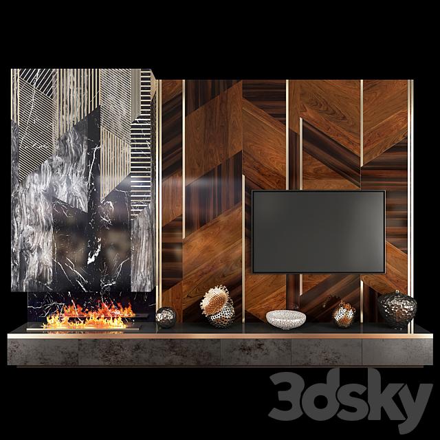 TV Wall Units set 04