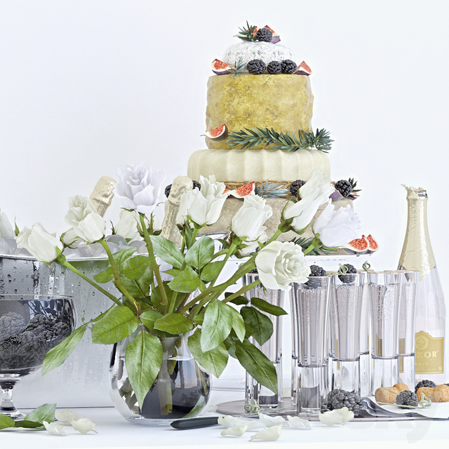 Decorative set with champagne 2