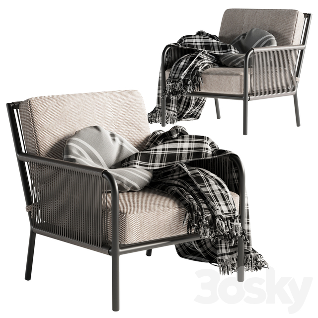 Morocco Graphite Lounge Chair Crate and Barrel