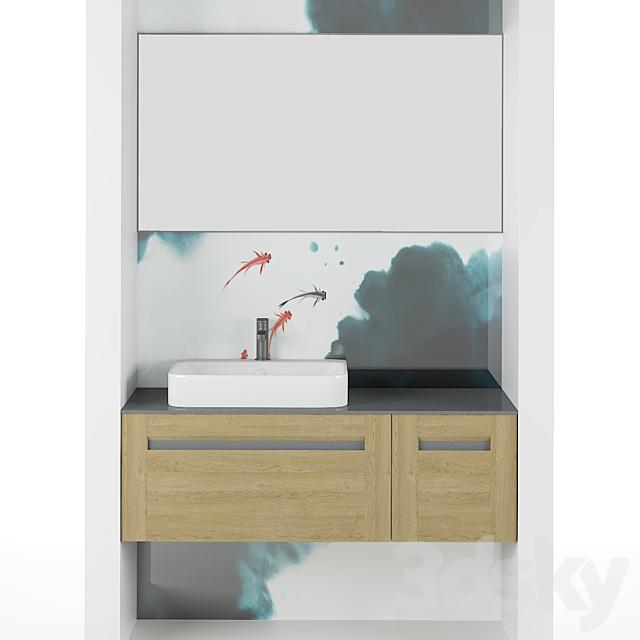 Modern Bathroom Cabinet   No. 038