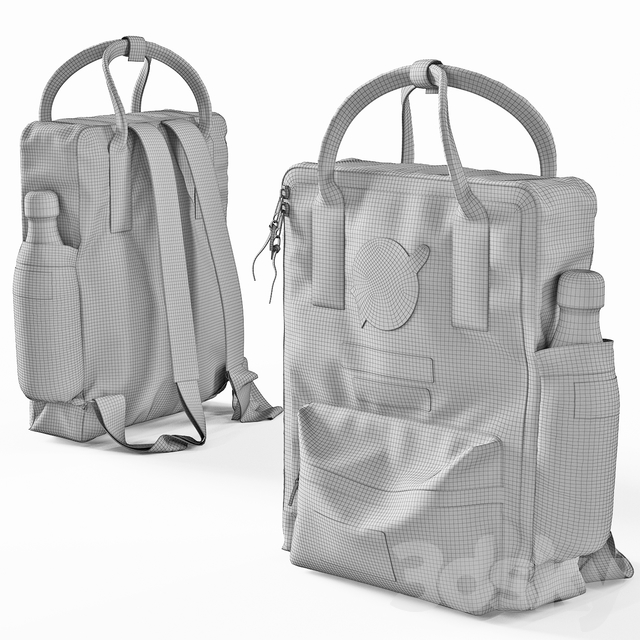 City NASA backpack gray