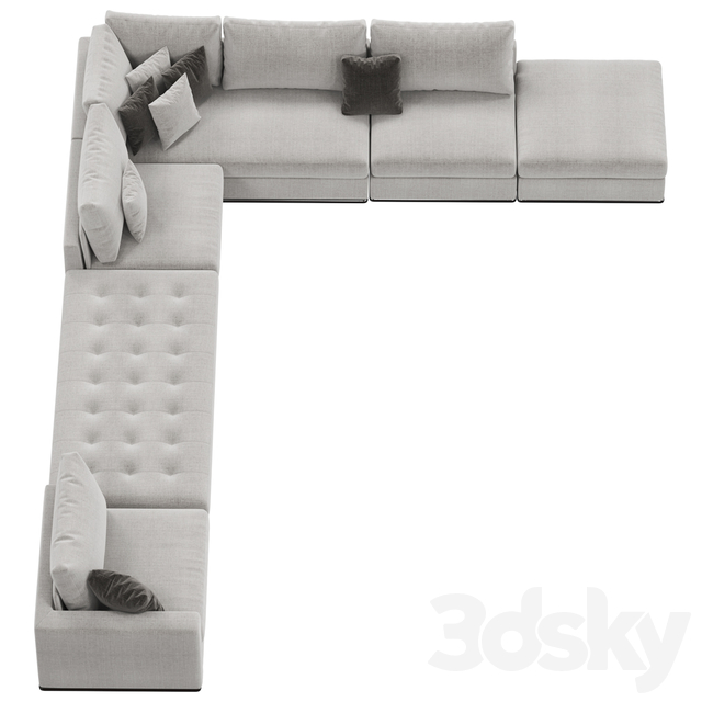 Modular sofa Giulio Marelli Oliver