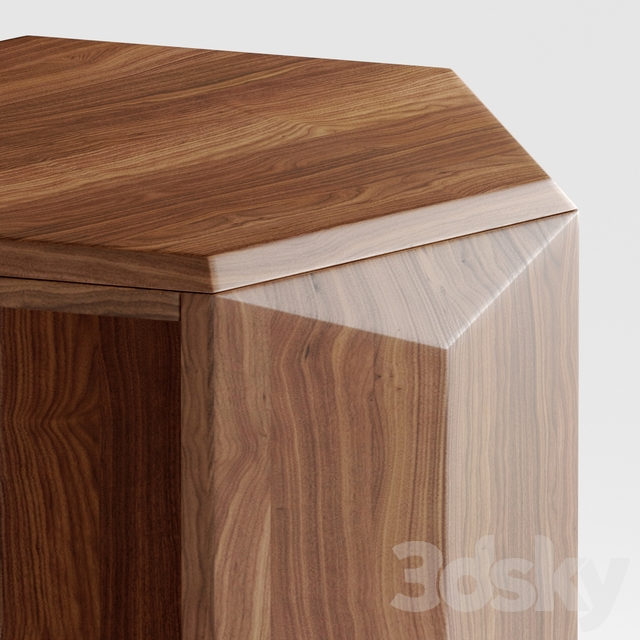 Profile Hexagon Chairside Table
