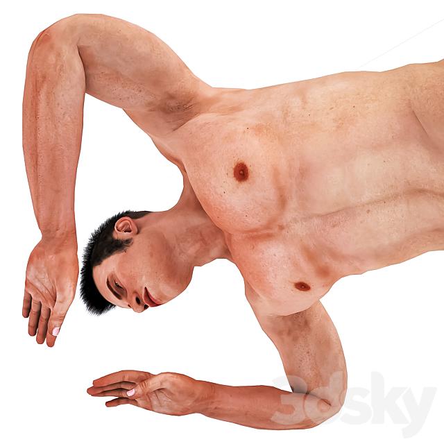 Man with Swimming Pose