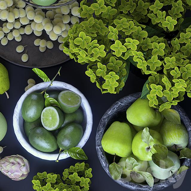 Fruits. Green