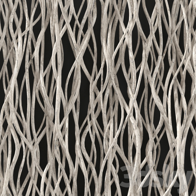 Branch white crookedd decor n1 / Decor from white curved branches