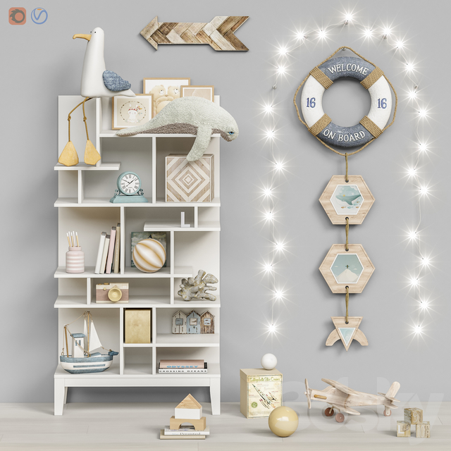 Toys and furniture set 72 (3 part)