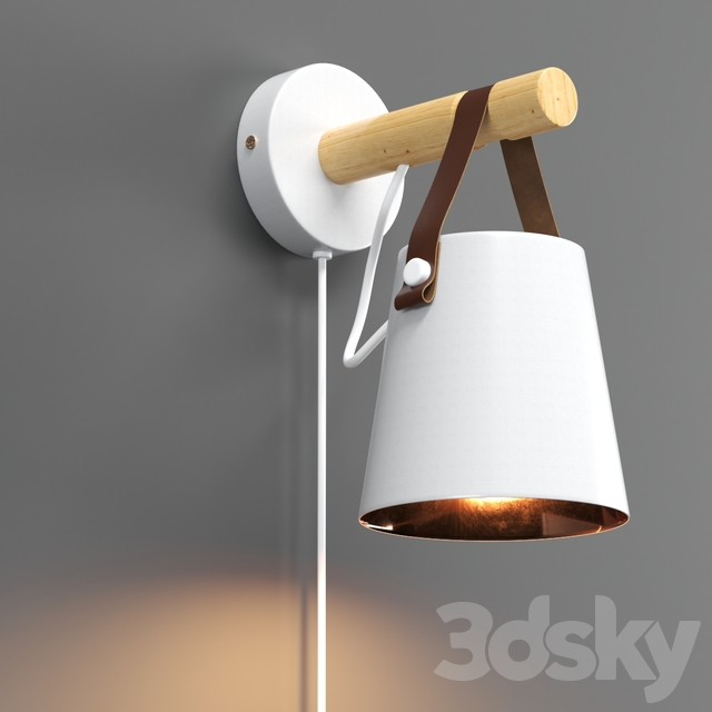 Leather wall lamp