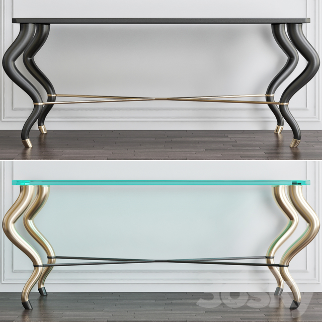 Mombassa Inlaid Mother-of-Pearl Console Table