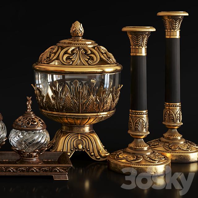 Decoration Set 26 Antique Vases and candlestick